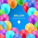 Fond multicolore de bleu de cadre de boules Image stock