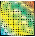 Fond multicolore de courbe de mosaïque Photographie stock