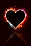 Fond multicolore de forme de coeur de Bokeh Photographie stock libre de droits