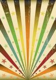 Fond multicolore de grunge de rayons de soleil Images libres de droits