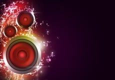 Fond multicolore de haut-parleur sain illustration de vecteur