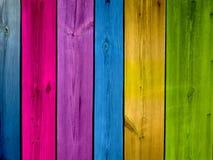 Fond multicolore de planches Images libres de droits