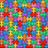 Fond multicolore des puzzles illustration stock