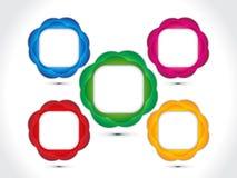 Fond multiple coloré artistique abstrait de cercle Photos libres de droits