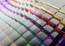 Fond multiple d'affaires de cube pour la présentation Photographie stock