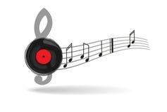 Fond musical abstrait Photographie stock libre de droits