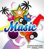 Fond musical abstrait Photo libre de droits