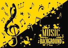 Fond musical abstrait avec des notes Images stock