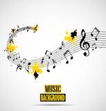 Fond musical abstrait avec des notes Image stock