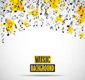 Fond musical abstrait avec des notes Photos libres de droits