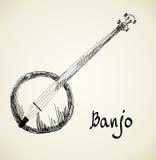 Fond musical banjo Photos libres de droits