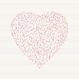 Fond musical de coeur Photographie stock libre de droits