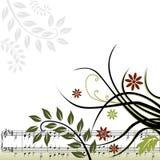 Fond musical floral Photo libre de droits