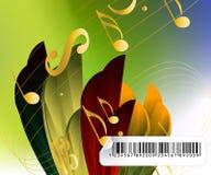 Fond musical pertinent Photo libre de droits