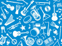 Fond musical sans joint Images stock