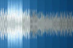 fond musical sous forme d'onde sonore Couleur bleue photographie stock