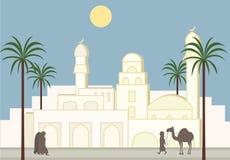 Fond musulman de ville Photos stock