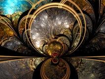 Fond mystique de fractale - soustrayez l'image digitalement produite Photo stock