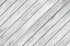 Fond naturel de la diagonale en bois blanche de panneaux de planche photo stock
