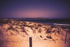 Fond naturel de paysage Vue de sable Les dunes de côte échouent la vue de mer photos libres de droits