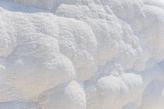 Fond naturel de travertin, Pamukkale, Turquie photos stock