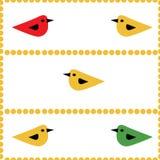 Fond naturel sans couture d'oiseaux colorés Images libres de droits