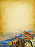Fond nautique de cru Image libre de droits