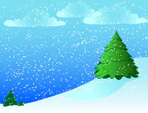 fond neigeux Photographie stock libre de droits