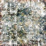 Fond neigeux abstrait avec des flocons de neige, étoiles Images stock