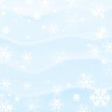 Fond neigeux de l'hiver Photo libre de droits