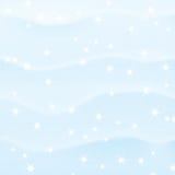 Fond neigeux de l'hiver Photos libres de droits