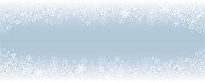 Fond neigeux lumineux de frontière d'hiver illustration de vecteur