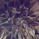 Fond net d'or abstrait du tissu 3D Photo stock