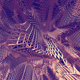 Fond net pourpre abstrait du tissu 3D Image stock