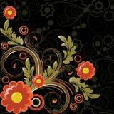 Fond noir illustration stock