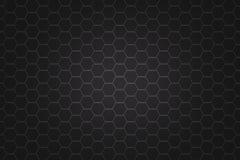 Fond noir abstrait d'hexagone Photo stock
