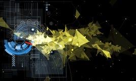 Fond noir abstrait de connexion de technologie du feu de vitesse Images stock