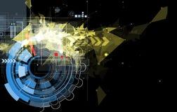 Fond noir abstrait de technologie du feu de vitesse Photographie stock libre de droits