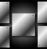 Fond noir abstrait de technologie en métal illustration stock