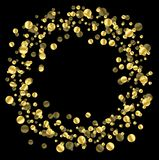 Fond noir avec des paillettes d'or Photo stock
