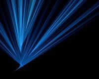 Fond noir avec la lueur bleue Photo stock