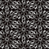 Fond noir blanc sans couture abstrait d'Ornamental de modèle image stock