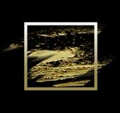 Fond noir d'or Photo stock