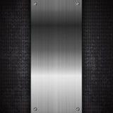 Fond noir d'abrégé sur technologie en métal Images stock