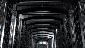 Fond noir de couloir banque de vidéos