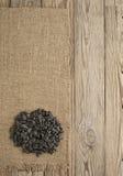 Fond noir de graines de tournesol Photographie stock libre de droits