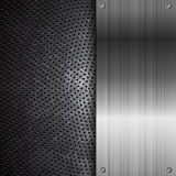 Fond noir de grunge en métal Image stock