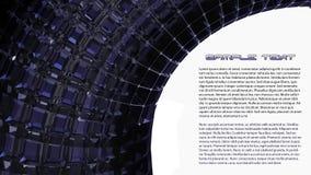 Fond noir de l'abstraction 3d illustration libre de droits