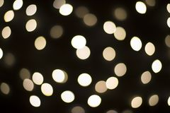 Fond noir de lumières de Noël Images libres de droits