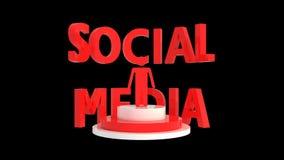 Fond noir de medias sociaux Photo libre de droits